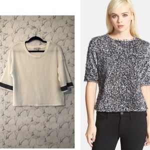 Search for Sanity Beaded Sleeve Top
